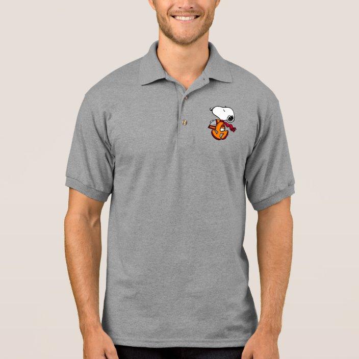 Space Snoopy Polo Shirt Zazzle Com