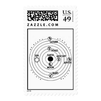 Space-Solar System Postage