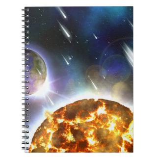 Space Spiral Note Book