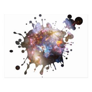 Space Splatter Postcard