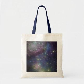 Space, stars, galaxies and nebulas budget tote bag