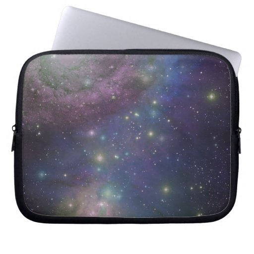 Space, stars, galaxies and nebulas laptop computer sleeve