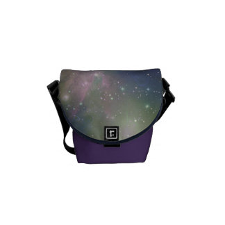 Space, stars, galaxies and nebulas messenger bag