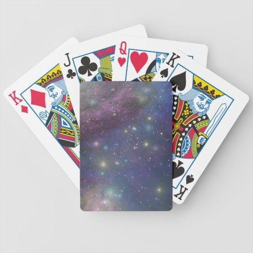 Space, stars, galaxies and nebulas bicycle poker deck
