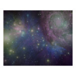 Space, stars, galaxies and nebulas poster