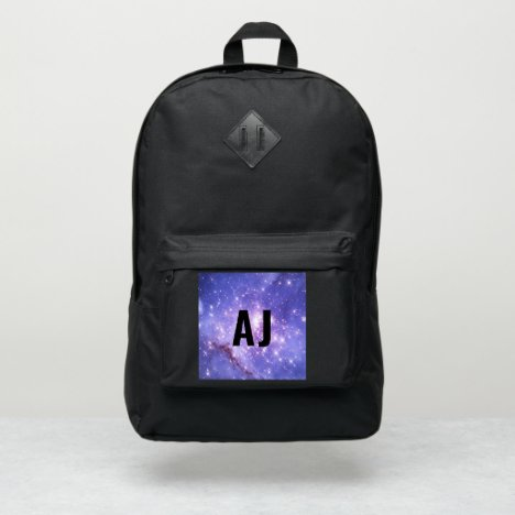 Space Stars Galaxy Custom Initials Monogram School Port Authority® Backpack