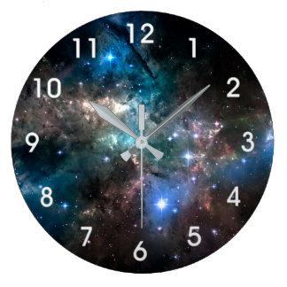 SPACE STARS LARGE CLOCK
