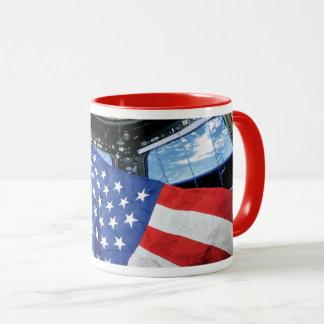 Space Station American Flag Earth Orbit Mug
