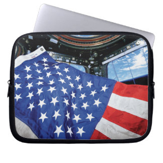 Space Station American Flag with Earth Computer Sleeve