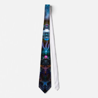 Space Station Ansarious Fractal Art Neck Tie