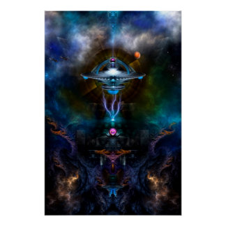 Space Station Ansarious Perfect Poster
