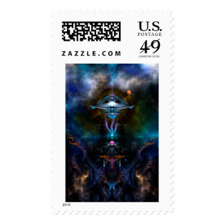 Space Station Ansarious Postage Stamp