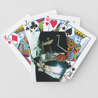Space Station Bicycle Playing Cards