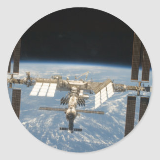 Space station classic round sticker