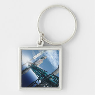Space station. Computer artwork of a space 2 Keychain