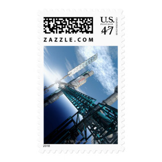 Space station. Computer artwork of a space 2 Postage Stamp