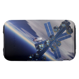 Space station. Computer artwork of a space 3 iPhone 3 Tough Cover