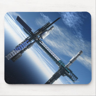 Space station. Computer artwork of a space Mouse Pad
