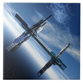 Space station. Computer artwork of a space Tile