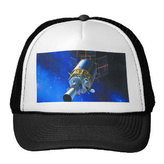 space station fly to goal and success trucker hat
