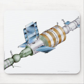 Space station from Russian Salyut series Mouse Pad