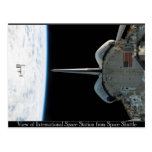 Space Station from Shuttle Postcard Post Card
