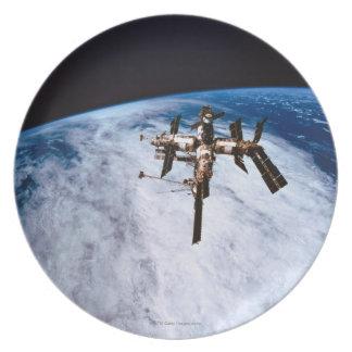 Space Station in Orbit 11 Dinner Plate