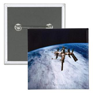 Space Station in Orbit 11 Pinback Button
