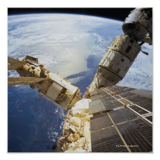 Space Station in Orbit 11 Poster