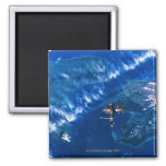 Space Station in Orbit 2 2 Inch Square Magnet