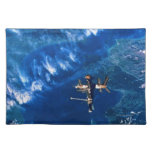 Space Station in Orbit 2 Cloth Placemat