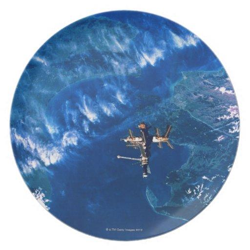 Space Station in Orbit 2 Dinner Plate