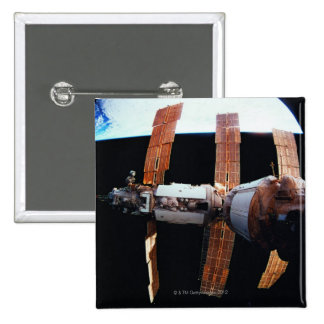 Space Station in Orbit 3 Pinback Button