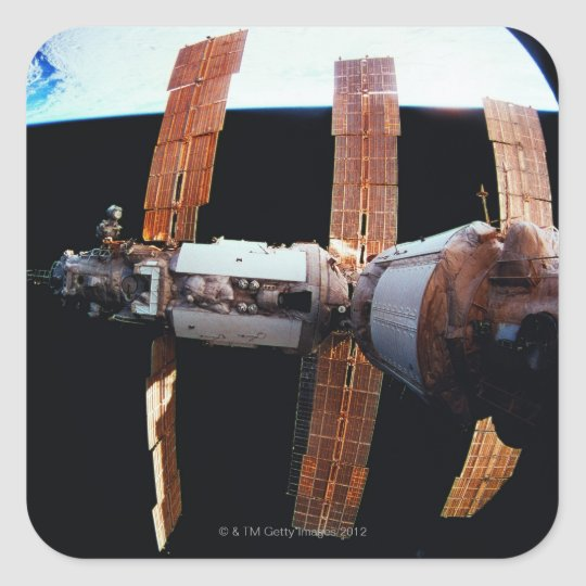 Space Station in Orbit 3 Square Sticker