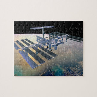 Space Station in Orbit 4 Jigsaw Puzzle