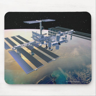Space Station in Orbit 4 Mouse Pad