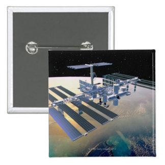 Space Station in Orbit 4 Pinback Button
