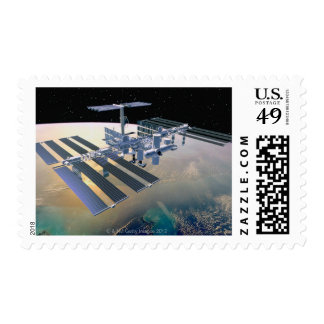 Space Station in Orbit 4 Postage