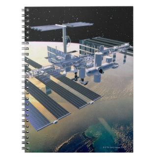 Space Station in Orbit 4 Spiral Notebook