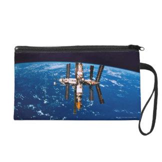Space Station in Orbit 5 Wristlet Purse