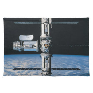 Space Station in Orbit 7 Cloth Placemat