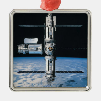 Space Station in Orbit 7 Metal Ornament