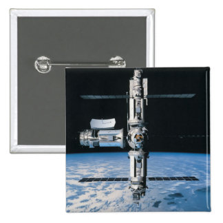 Space Station in Orbit 7 Pinback Button