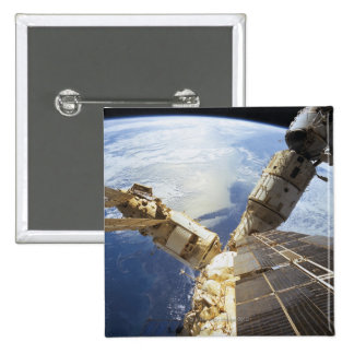 Space Station in Orbit 8 2 Inch Square Button