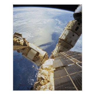 Space Station in Orbit 8 Poster