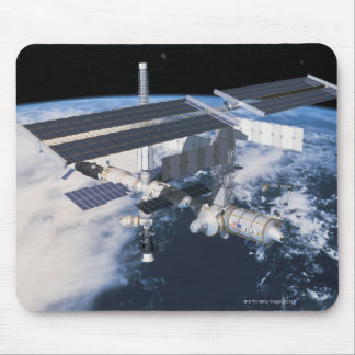 Space Station in Orbit 9 Mouse Pad