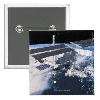 Space Station in Orbit 9 Pinback Button