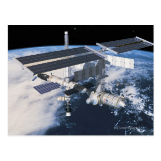 Space Station in Orbit 9 Postcard