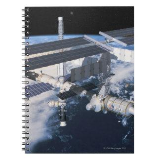 Space Station in Orbit 9 Spiral Notebook