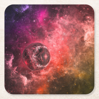 Space Station Nine Square Paper Coaster